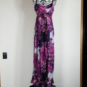 Women's Torrid Maxi Polyester purple size 14 dress